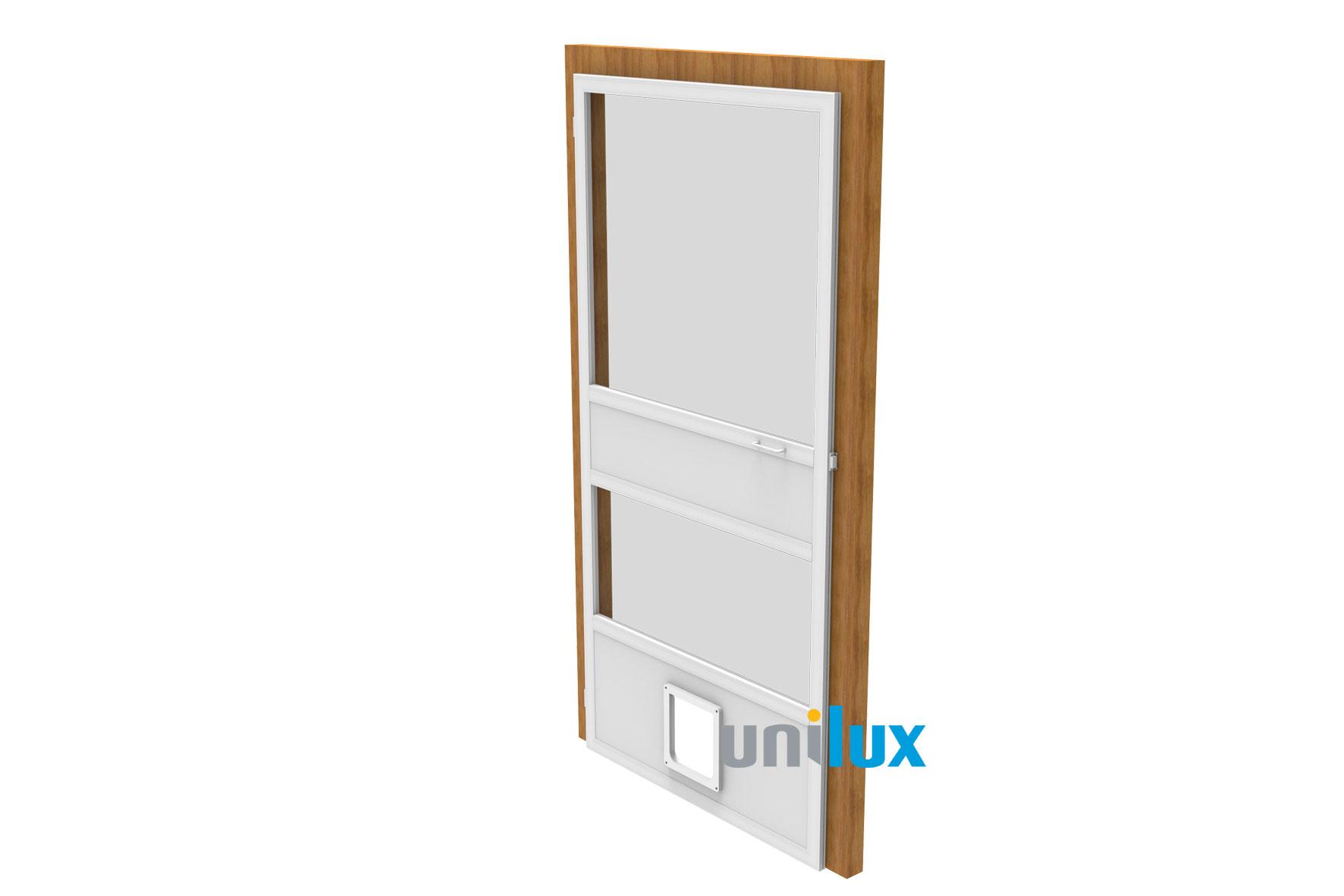 Vaste hor deur enkel Unilux